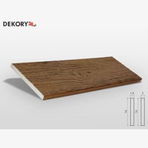 Deska Imitacja Drewna Ciemny Orzech Wysokość 200 cm