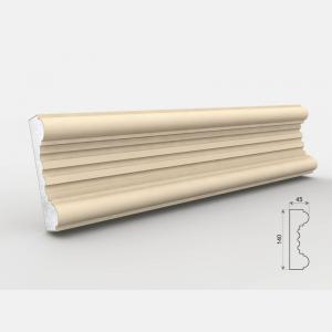 Listwa przyokienna - LE-16 Wysokość Powlekany tynkiem sztukatorskim Styropian EPS200, odporny na warunki atmosferyczne i mikropęknięcia. Naszą sztukaterię należy pomalować na dowolny kolor farbą elewacyjną silikonową lub akrylową. cm