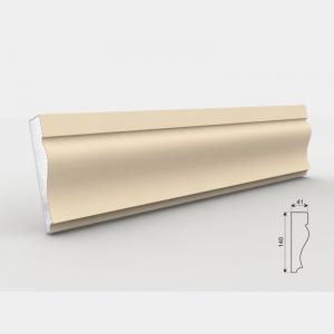 Listwa wokółokienna - LE - 20 Wysokość Powlekany tynkiem sztukatorskim Styropian EPS200, odporny na warunki atmosferyczne i mikropęknięcia. Naszą sztukaterię należy pomalować na dowolny kolor farbą elewacyjną silikonową lub akrylową. cm