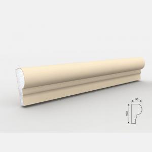 Listwa wokółokienna - LE - 24 Wysokość Powlekany tynkiem sztukatorskim Styropian EPS200, odporny na warunki atmosferyczne i mikropęknięcia. Naszą sztukaterię należy pomalować na dowolny kolor farbą elewacyjną silikonową lub akrylową. cm