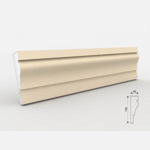 Listwa wokółokienna - LE - 27 Wysokość Powlekany tynkiem sztukatorskim Styropian EPS200, odporny na warunki atmosferyczne i mikropęknięcia. Naszą sztukaterię należy pomalować na dowolny kolor farbą elewacyjną silikonową lub akrylową. cm