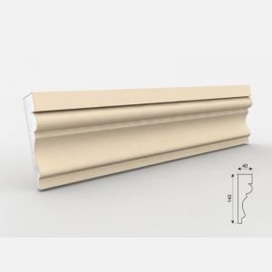 Listwa wokółokienna - LE - 30 Wysokość Powlekany tynkiem sztukatorskim Styropian EPS200, odporny na warunki atmosferyczne i mikropęknięcia. Naszą sztukaterię należy pomalować na dowolny kolor farbą elewacyjną silikonową lub akrylową. cm