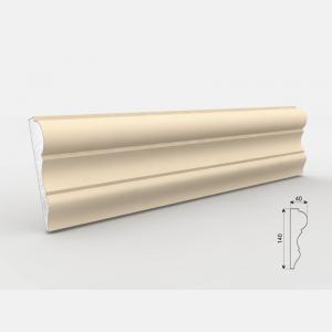 Listwa wokółokienna - LE - 31 Wysokość Powlekany tynkiem sztukatorskim Styropian EPS200, odporny na warunki atmosferyczne i mikropęknięcia. Naszą sztukaterię należy pomalować na dowolny kolor farbą elewacyjną silikonową lub akrylową. cm